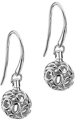 Chloé Lily & Lotty Rhodium Plated 925 Sterling Silver Hand Set Diamond Ball Drop Earrings