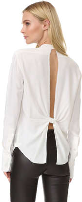 Helmut Lang Back Knot Blouse $360 thestylecure.com