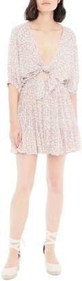 Faithfull The Brand Marigot Tie Front Minidress