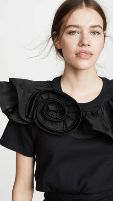 Marc Jacobs Top with Ruffles and Rosette