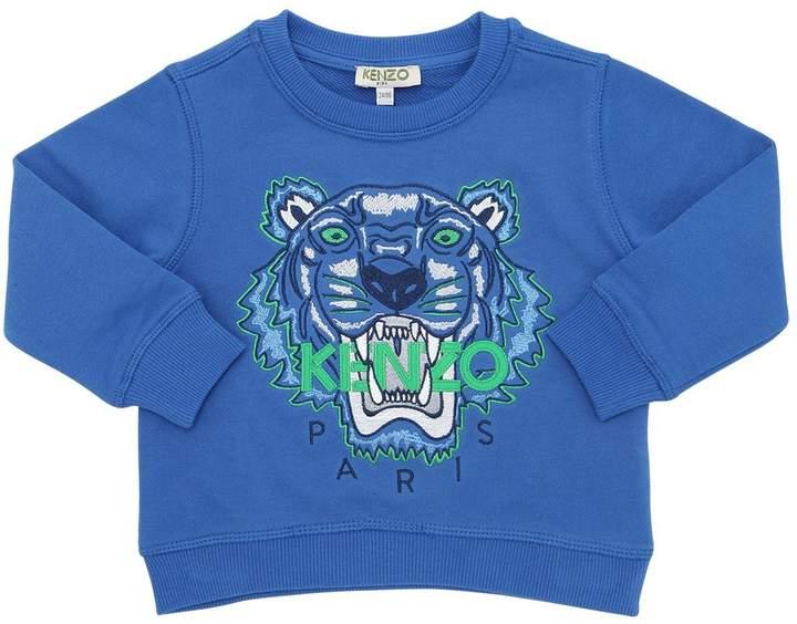 Tiger Embroidered Cotton Sweatshirt