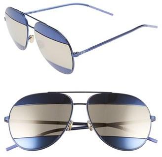 Women's Dior Split 59Mm Aviator Sunglasses - Blue/ Gray Ivory $555 thestylecure.com