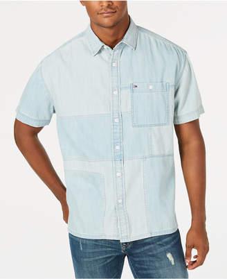 Tommy Hilfiger Men Kearney Patchwork Denim Pocket Shirt