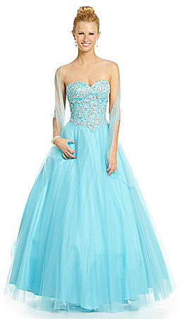 Jovani JVN by Strapless Sweetheart Ball Gown