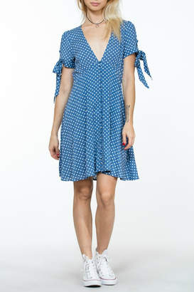 En Creme Polka Dot Dress