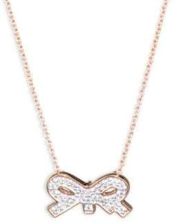 ginette_ny Tiny Diamond Bow Necklace
