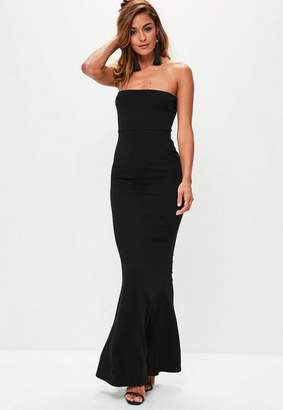 Missguided Black Crepe Sleeveless Maxi Dress