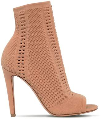 Gianvito Rossi 100mm Vires Stretch Knit Open Toe Boots