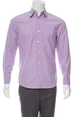 Theory Striped French Cuff Shirt
