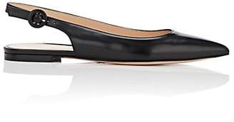 Gianvito Rossi Women's Leather Slingback Flats - Black