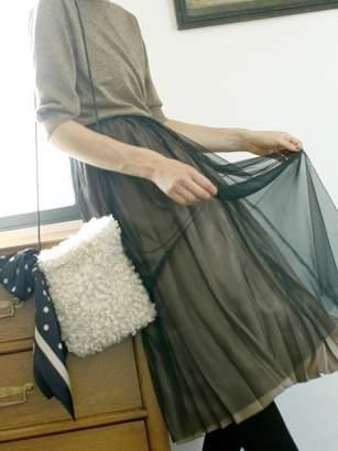 Le.coeur Blanc (ル クール ブラン) - ルクールブラン チュール×シャイニープリーツスカート
