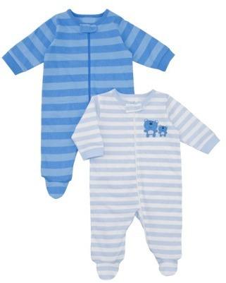 Gerber Onesies® Newborn Boys' 2 Pack Sleep N' Play - Blue