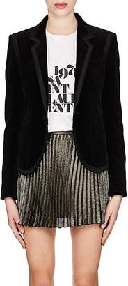 Saint Laurent Women's Ribbon-Trimmed Velvet Blazer