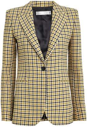 Victoria Beckham Checked Wool-Blend Blazer