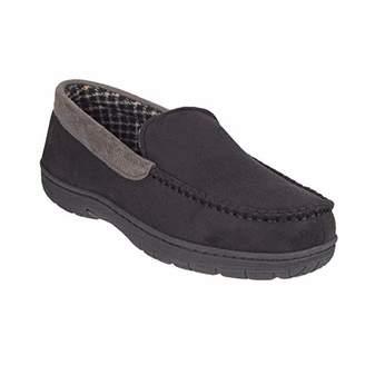 25940610023 32 Degrees Heat Men s Slipper House Shoe Moccasin Memory Foam Micro Suede  Indoor Outdoor Nonslip Sole