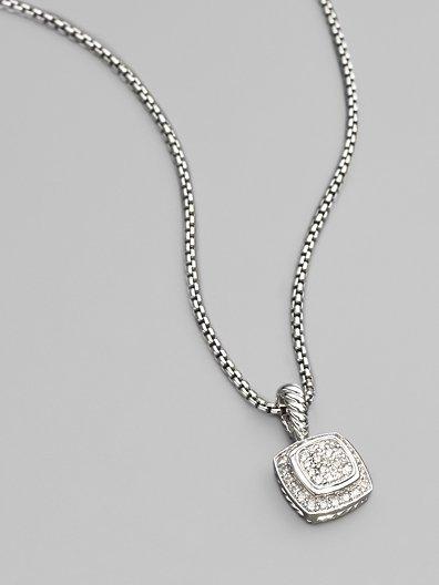 David Yurman Diamond & Sterling Silver Necklace