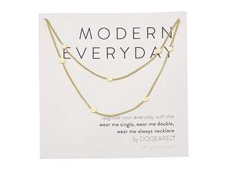 Dogeared Modern Everyday, Wear Me Double Necklace