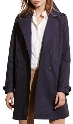 Women's Lauren Ralph Lauren 'Balmacaan' Raincoat $240 thestylecure.com