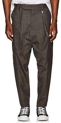 Chapter MEN'S CHAIN-EMBELLISHED WOOL-BLEND DROP-RISE TROUSERS - CHARCOAL SIZE 34