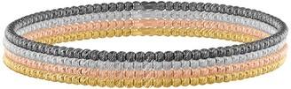 Sterling Silver Multi-Color Bangle Set, 17.1g