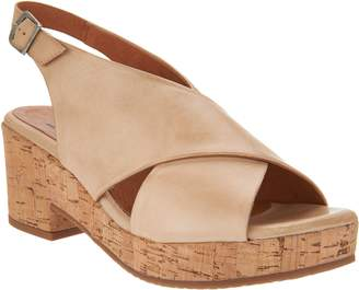 Miz Mooz Leather Wedge Sandals - Comet