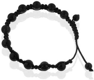 Shamballa FINE JEWELRY Mens Black Stainless Steel Bead Bracelet