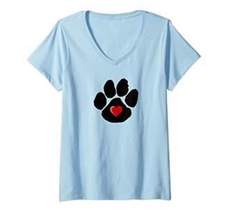 Womens Dog Paw Print Shirts For Women