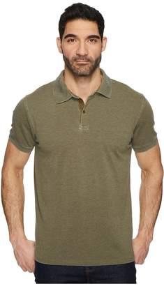Lucky Brand Burnout Pique Polo Shirt Men's Clothing