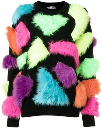 Jeremy Scott fuzzy panelled sweater