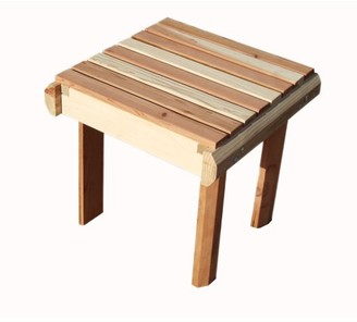 clear Best Redwood Beach Side Table, No stain