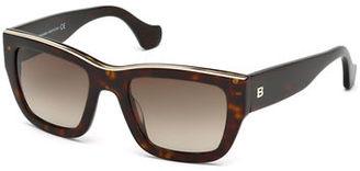 Balenciaga Acetate Rectangle Sunglasses $390 thestylecure.com