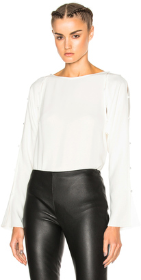Lanvin Long Sleeve Top $1,280 thestylecure.com