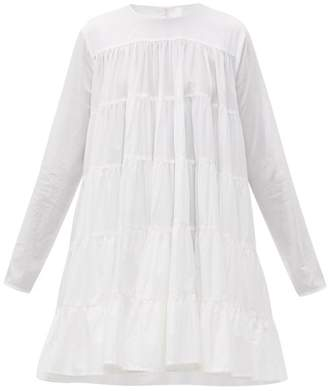 Merlette New York Soliman Tiered Cotton Mini Dress - Womens - White
