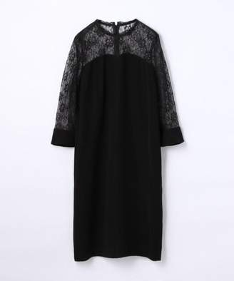 TOMORROWLAND (トゥモローランド) - TOMORROWLAND sophistique′ FLICKA レース切り換えドレス