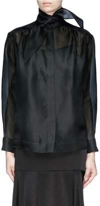 MATÉRIEL by Aleksandre Akhalkatsishvili Scarf neck silk organza shirt