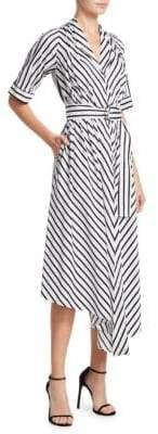 ADAM by Adam Lippes Striped Cotton Asymmetric Dress