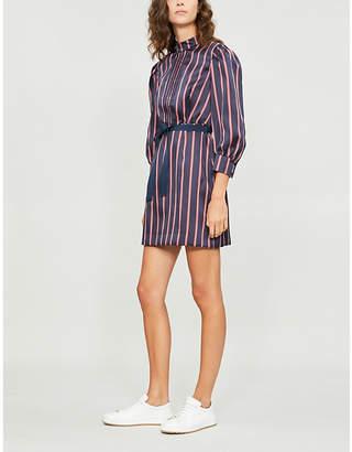 Sandro Respect striped satin dress