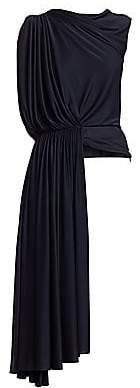 Oscar de la Renta Women's Sleeveless Asymmetric Draped Blouse