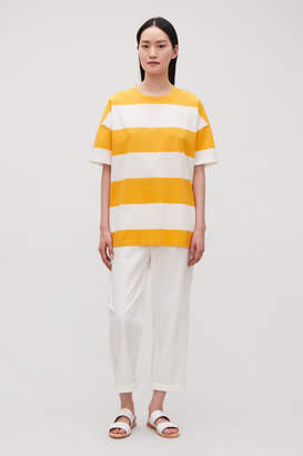 Cos STRIPED OVERSIZED T-SHIRT