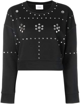 Dondup stud embellished sweatshirt