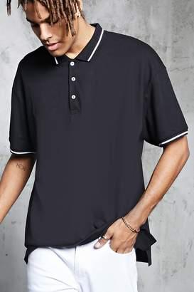 Forever 21 Stripe Trim Polo Shirt