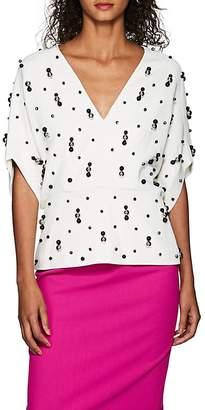 Narciso Rodriguez Women's Embellished Twill Blouse