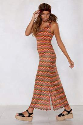 Nasty Gal Another Crochet in Paradise Maxi Dress