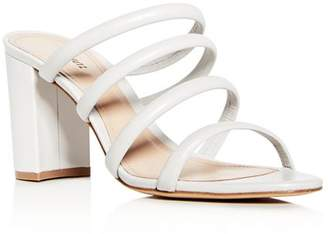 Schutz Women's Felisa Leather High Block-Heel Sandals