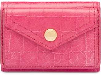 Miu Miu crocodile embossed small wallet