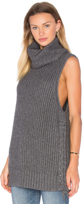 Autumn Cashmere Lace Up Sweater $374 thestylecure.com