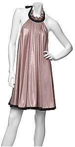 Jay Godfrey Metallic Halter Swing Dress