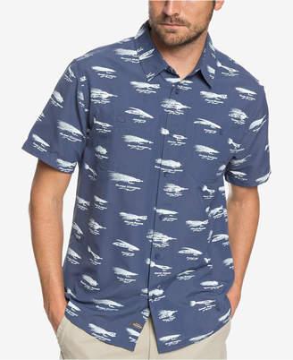 Quiksilver Men's Waterman Wake Lures Printed Performance Shirt
