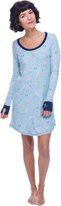 Munki Munki Women's Polar Bears Thermal Nightshirt