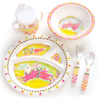 Mackenzie Childs Toddlers' Bunny Dinnerware Set